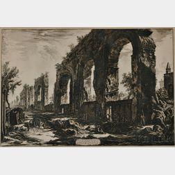 Giovanni Battista Piranesi (Italian, 1720-1778)      The Aqueduct of Nero Leading to the Palatine