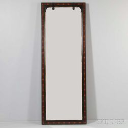 Renaissance Revival Inlaid Ebonized Cherry Pier Mirror