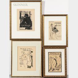 Henri de Toulouse-Lautrec (French, 1864-1901)      Seven Sheet Music Covers: Le Petit Trottin