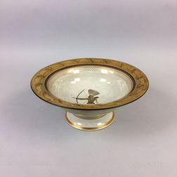 Royal Copenhagen Porcelain Bowl Depicting a Native American Archer
