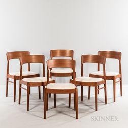 Six Korup Stole Fabrik Dining Chairs