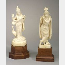 Two Indian Ivory Carvings