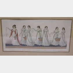Framed Print The King's Herbwoman and Her Six Maids...