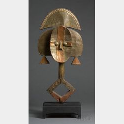 African Wood and Metal Reliquary Figure