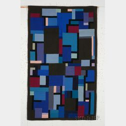 Louis M. Guidetti (1902-2002) Abstract Hooked Rug