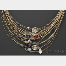 """Artist Gem-set """"Healing Sculpture"""" Necklace, Kazuko"""