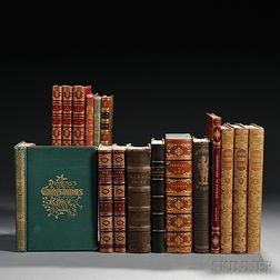 Dickens, Charles (1812-1870) Twelve Titles in Seventeen Volumes, 19th Century.