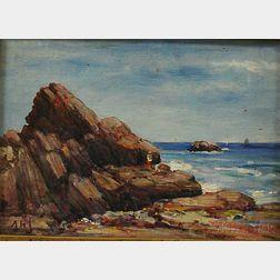 Henry Hammond Ahl (American, 1869-1953)      Seascape, Newburyport.