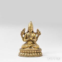 Gilt-bronze Figure of Lama
