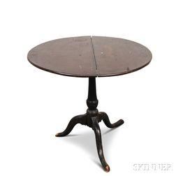 Queen Anne Brown-painted Tilt-top Tea Table