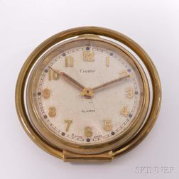 Vintage Cartier Eight-day Travel Alarm Clock