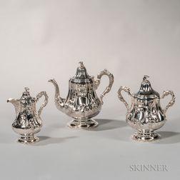 Three-piece Charters, Cann & Dunn Coin Silver Tea Service