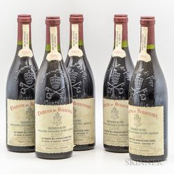 Chateau de Beaucastel Chateauneuf du Pape 1984, 5 bottles