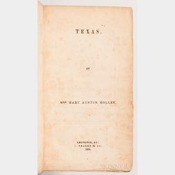Holley, Mary Austin Phelps (1784-1846) Texas.