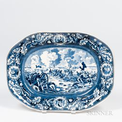 "Transfer-decorated ""Pickett's Charge"" Platter"