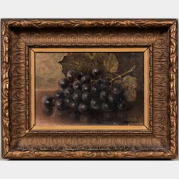 American School, Late 19th Century      Still Life with Grapes