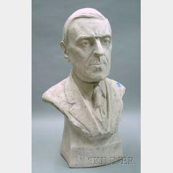 Plaster Bust of President Woodrow Wilson
