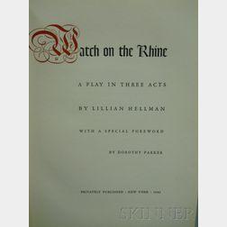 (Anti-Nazi Literature), Hellman, Lillian (1905-1984)