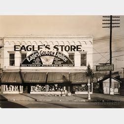 Walker Evans (American, 1903-1975)      Two Gelatin Silver Prints:   Eagle's Store, Selma, Alabama