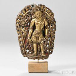 Fragment of a Gilt-bronze Figure of Padmapani