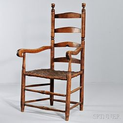 Maple and Ash Slat-back Armchair