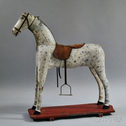 Paint-decorated Wooden Hobby Horse