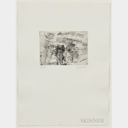 Asger Jorn (Danish, 1914-1973)      Two Works from the Schweizer Suite  : Mon château d'Espagne