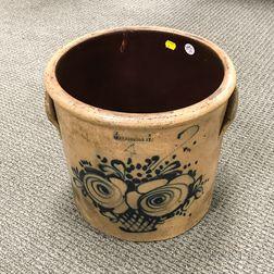 J. & E. Norton Cobalt-decorated Stoneware Four-gallon Crock