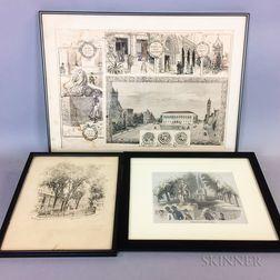 Seven Framed Prints of Boston.     Estimate $100-150