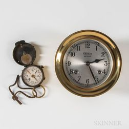 "Chelsea Shipstrike Clock and ""US Engineer Corps"" Pocket Compass"