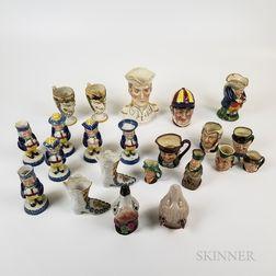 Twenty-two English Ceramic Mostly Figural Items