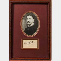 Two Framed Autographs Including Somerset Maughan and John Philip Sousa.