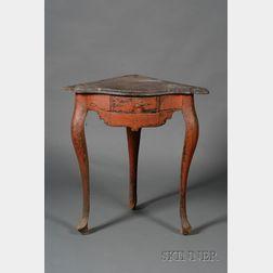 Italian Painted Pine Corner Table
