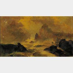 Edward Moran (American, 1829-1901)      Seascape