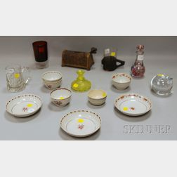 Group of Assorted Porcelain Teaware, Decorative Glass, and Pottery Items