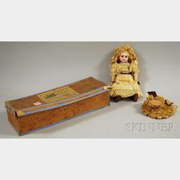 Small Figure A Steiner Bisque Head Doll in Box