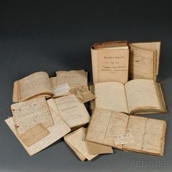 Medical Manuscripts and Associated Paper, American, 19th Century.