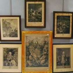 Six 17th-19th Century Continental School Engravings