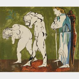 Szalay, Lajos (1919-1995) Four Original Drawings, Illustrations for the Book Genesis.
