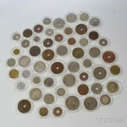 Fifty-three British Colonial Coins