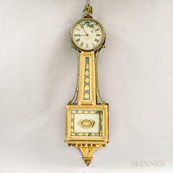 """Simon Willard Patent Timepiece or """"Banjo"""" Clock"""