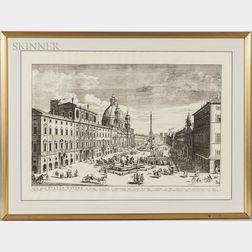 Pierre Mortier, Publisher (Dutch, 1661-1711)    Veue de la Piazza Navona a Rome...