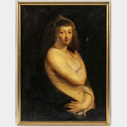 """After Peter Paul Rubens (Flemish, 1577-1640)      Copy After Helena Fourment, """"Das Pelzchen."""""""