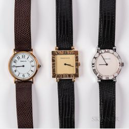 Three Tiffany & Co. Wristwatches