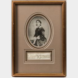 Florence Nightingale Framed Autograph