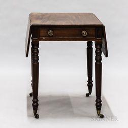 Federal-style Mahogany Pembroke Table