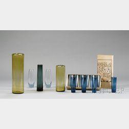 Fifteen Pieces of Art Glass, Including Holmegaard and Iittala