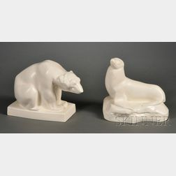 Two Wedgwood Skeaping Animals