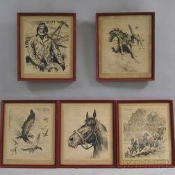 Five Prints After Reinhold H. Palenske (American, 1884-1954)