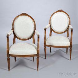 Pair of Louis XVI-style Fauteuils